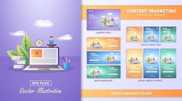 Online leerconcept