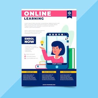 Online leren flyer-sjabloon