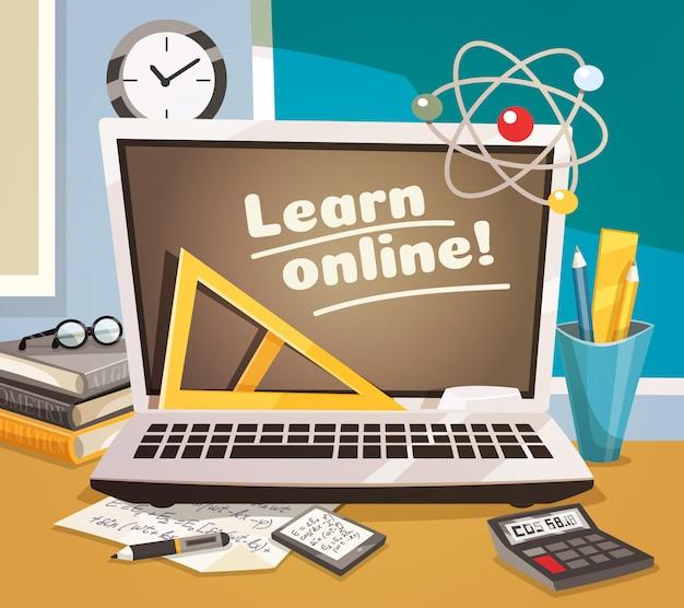 Online leren ontwerpconcept