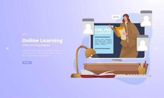 Online lesprogramma voor nieuwe concepten van online studeren