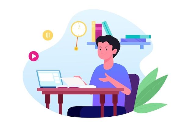 Online lessen concept