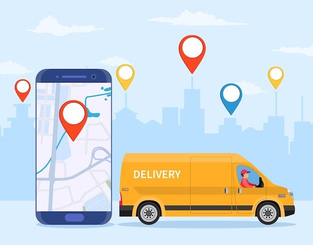 Online levering dienstverleningsconcept,