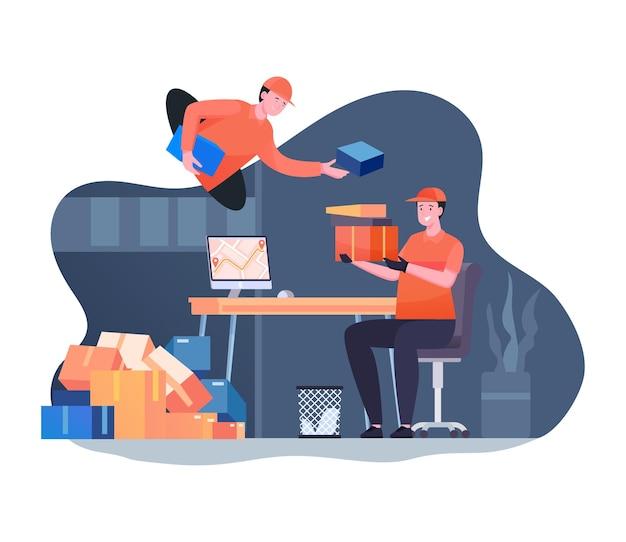 Online levering service illustratie concept