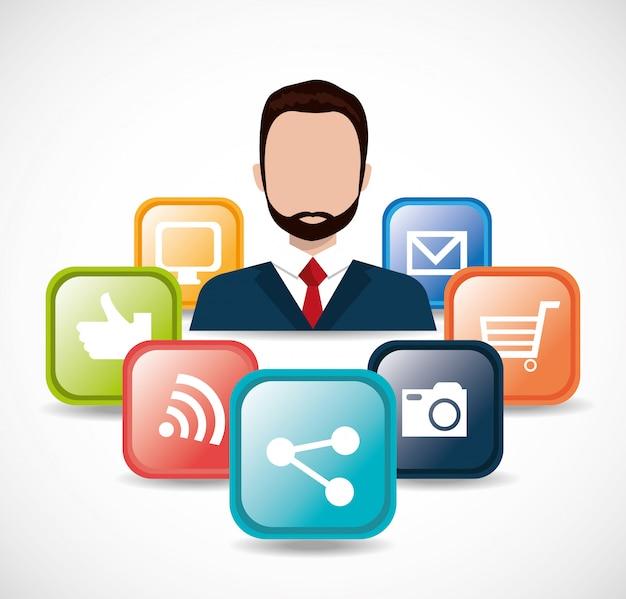 Online media illustratie