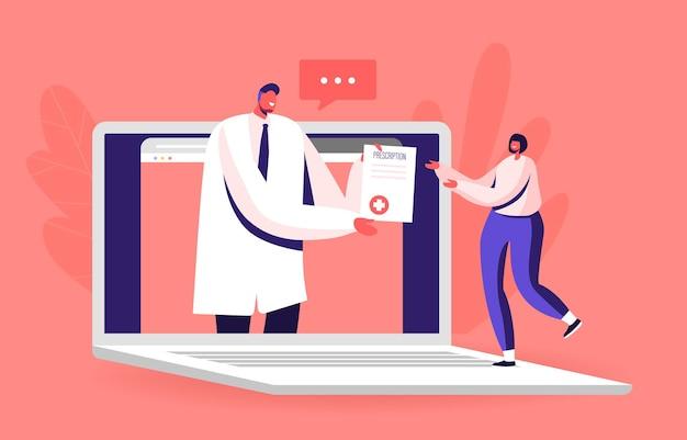 Online medisch consult op afstand, slimme medische technologie