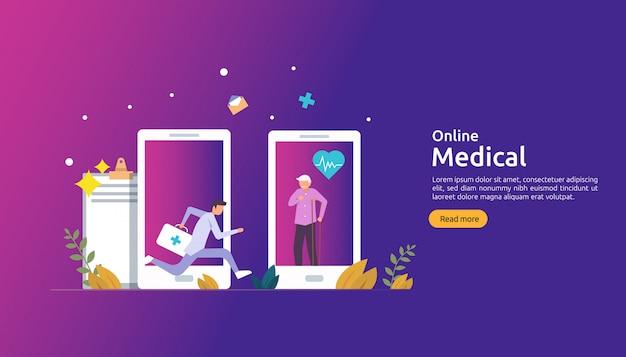 Online medische ondersteuning achtergrond sjabloon