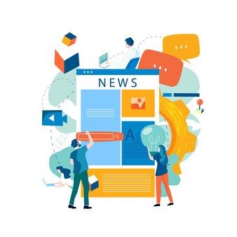 Online nieuws, nieuwsupdate, nieuwswebsite