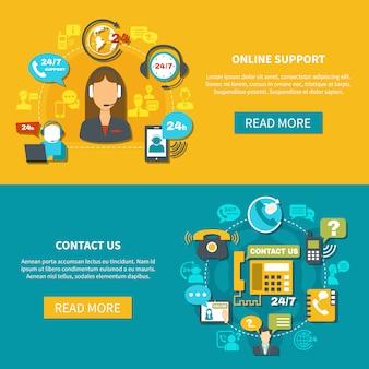 Online ondersteuning horizontale banners