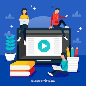 Online onderwijs achtergrond