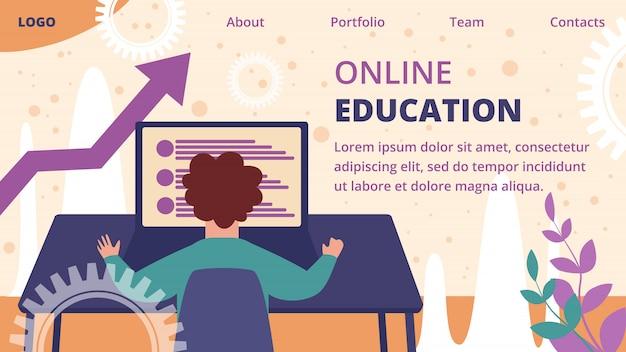 Online onderwijs bestemmingspagina sjabloon