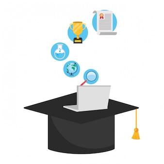 Online onderwijs cartoon