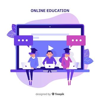 Online onderwijs concept