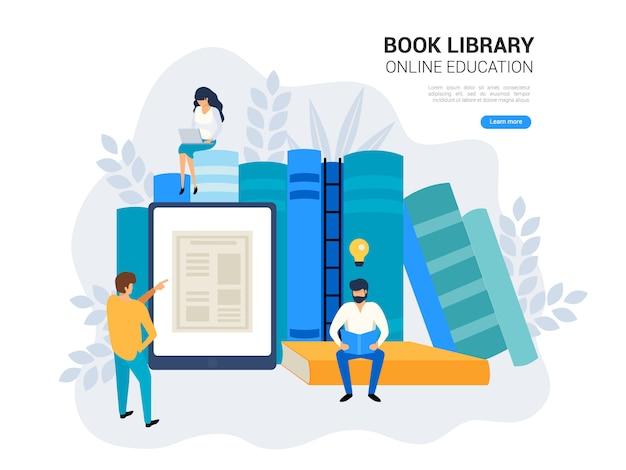 Online onderwijs concept.