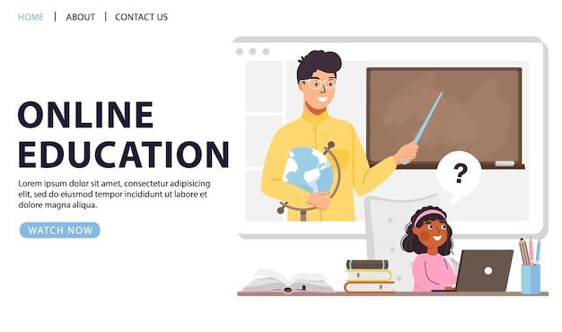 Online onderwijs conceptontwerp.