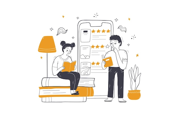 Online onderwijs, e-learning, conceptillustratie op afstand