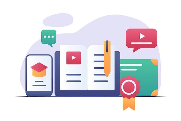 Online onderwijs illustratie