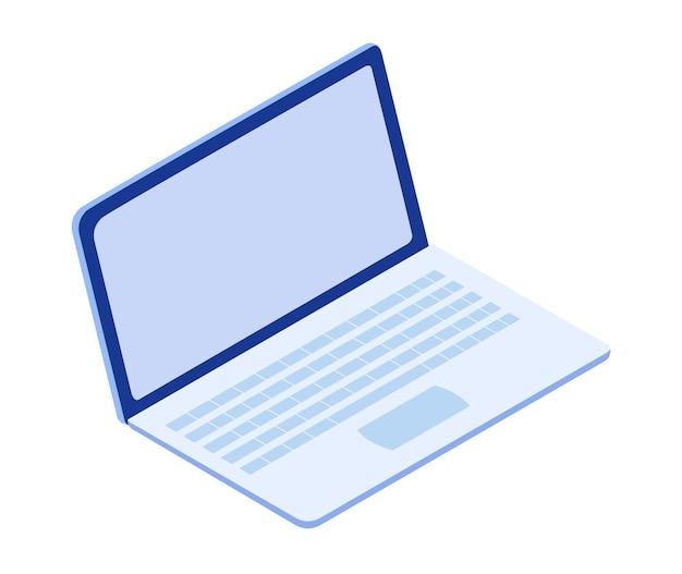 Online onderwijs isometrisch op laptop. e-learning thuis voor student. afstandsonderwijs