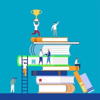 Online onderwijs, leren, 3d, digitale bibliotheek.