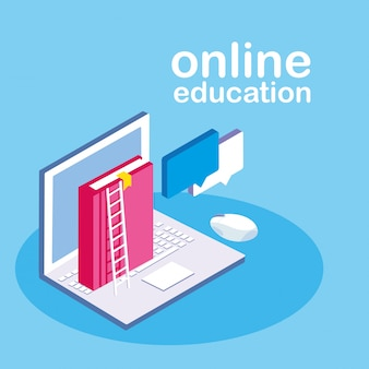 Online onderwijs met laptop