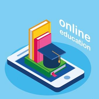 Online onderwijs met smartphone en ebooks