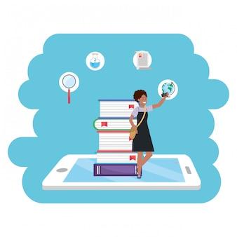Online onderwijs millennial student tablet