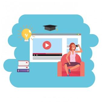 Online onderwijs millennial student webpagina
