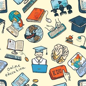 Online onderwijs naadloos patroon