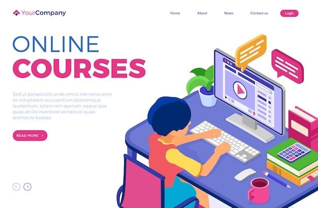 Online onderwijs of afstandsexamen met isometrisch karakter