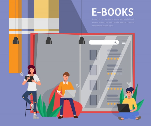 Online onderwijs op website.