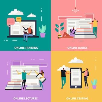 Online onderwijs plat