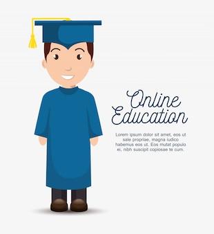 Online onderwijs sjabloon