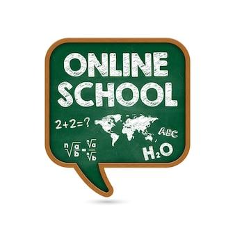 Online onderwijs. terug naar school.