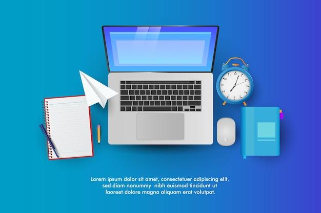 Online onderwijs. thuiswerken digitaal leren