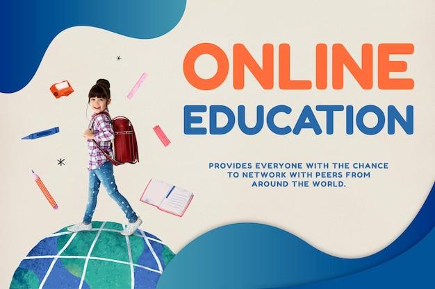 Online onderwijssjabloon toekomstige technologie