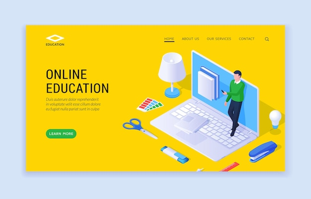 Online onderwijswebsite