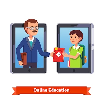 Online opleiding concept