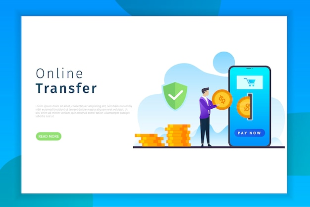 Online overdracht bestemmingspagina