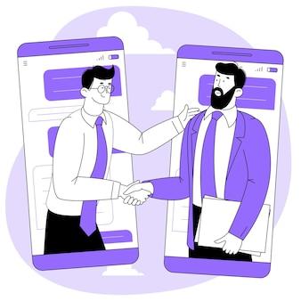 Online overeenkomst of contract