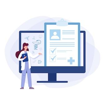 Online overleg met artsconcept