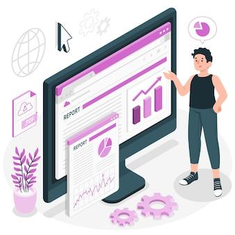 Online rapport concept illustratie
