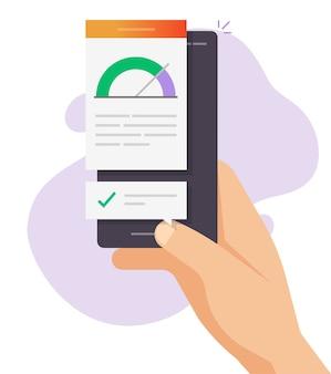 Online rapport over testprestaties met hoge laadtijd op mobiele telefoon
