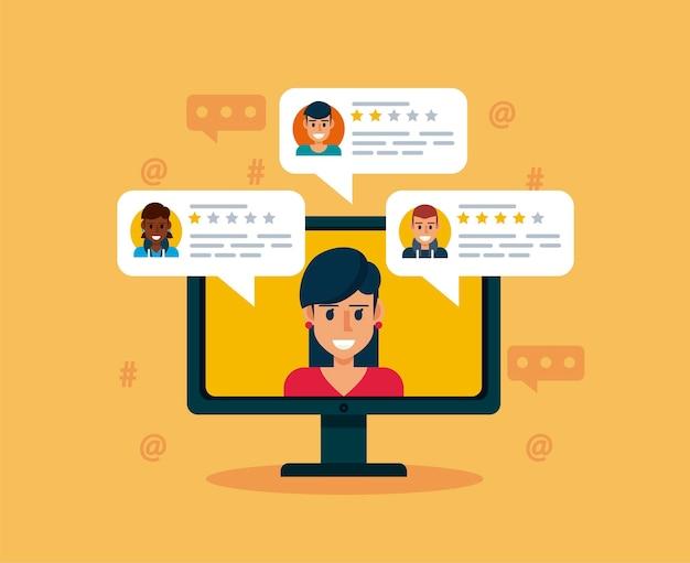 Online recensie op desktop
