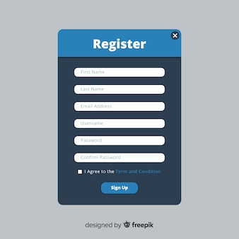 Online registratie-interface