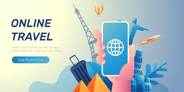 Online reisbanner