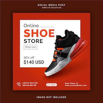 Online schoenenwinkel social media berichtsjabloon