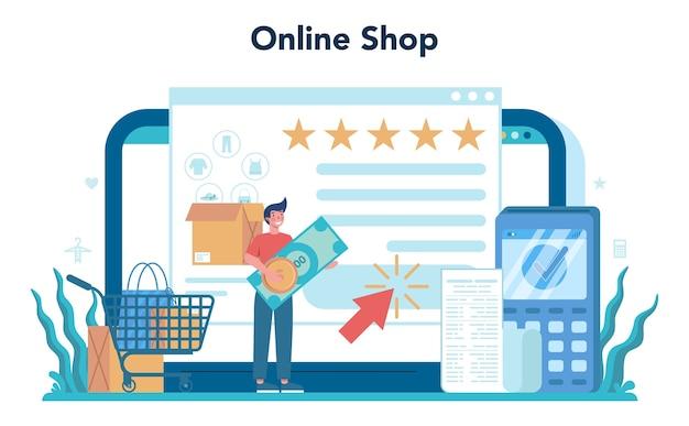 Online service of platform van de verkoper.