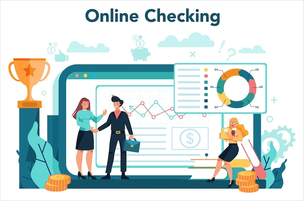 Online service of platform van financieel analist of consultant.