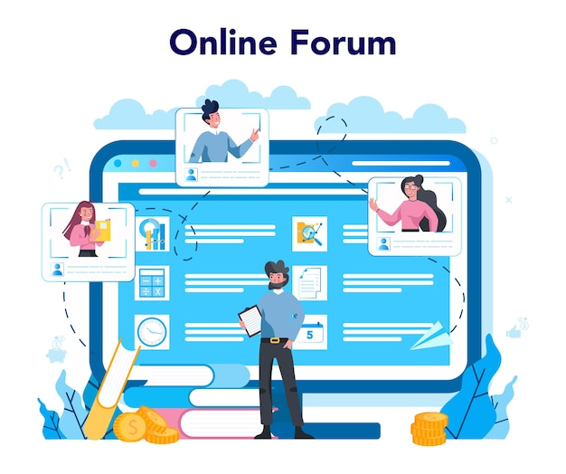 Online service of platform van lobbyist en lobby. professionele pr