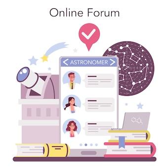Online service of platform voor astronomie en astronoom