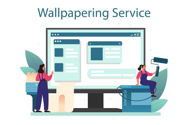 Online service of platform voor behangpapier